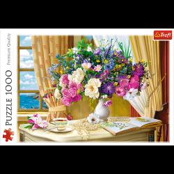 Puzzle 1000 el. Kwiaty o poranku