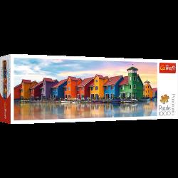 Puzzle 1000 el.Panorama - Groningen, Holandia