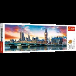 Puzzle 500 el.Panorama - Londyn - Big Ben i Pałac Westminsterski