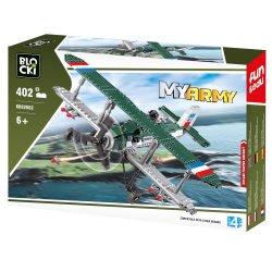 Samolot dwupłatowy - Klocki Blocki - Wojsko KB82002
