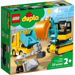 LEGO DUPLO 10931 Ciężarówka i koparka gąsienicowa