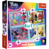 Puzzle 4w1 Trasa koncertowa Troli Trefl 34336