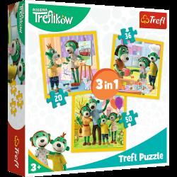Puzzle 3w1 - Razem jest wesoło Rodzina Treflików Trefl 34850