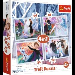 Puzzle 4w1 W magicznym lesie Trefl 34344