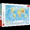 Puzzle 1000 el. Mapa fizyczna świata
