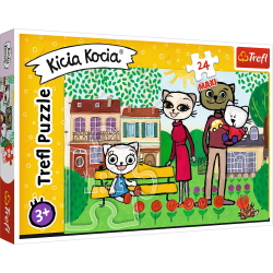 Puzzle maxi 24 el. Kicia Kocia Zabawy