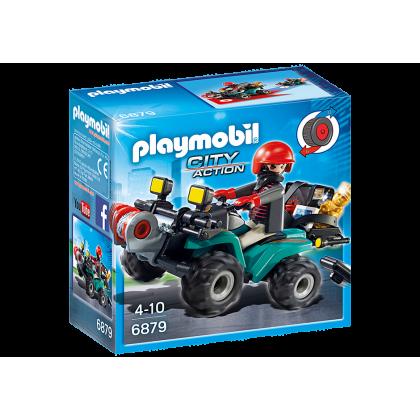 playmobil 6879 Przestępca z quadem