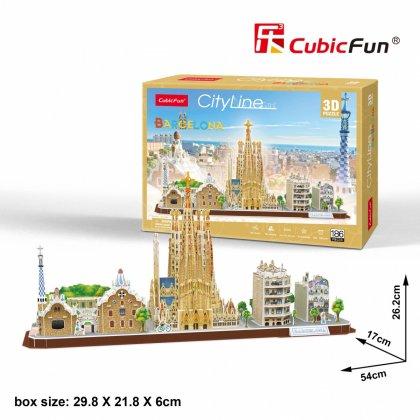 Puzzle 3D City Line Barcelona