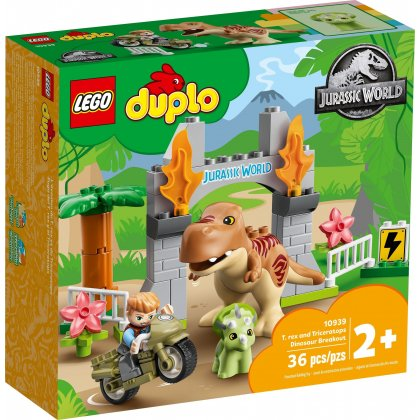 LEGO DUPLO 10939 T. rex and Triceratops Dinosaur Breakout