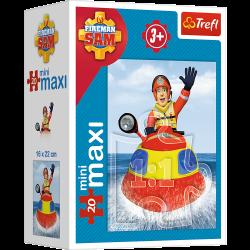Puzzle mini maxi 20 el. Zawsze na służbie- Strażak Sam 21006 (56001)