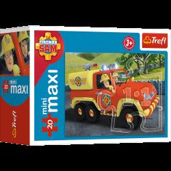 Puzzle mini maxi 20 el. Zawsze na służbie- Strażak Sam 21005 (56001)
