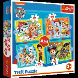 Puzzle 4w1 Wesoła ekipa Psiego Patrolu 34346