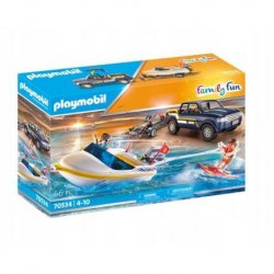 playmobil 70534 Pickup z łodzią motorową