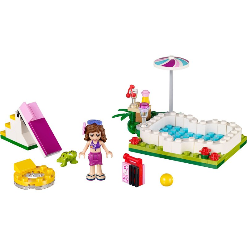 lego 41090 olivia 39 s garden pool lego sets friends