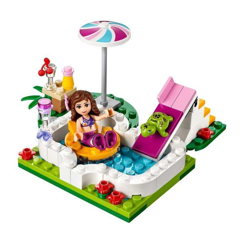 Lego 41090 olivia 39 s garden pool lego sets friends for Lego friends olivia s garden pool 41090