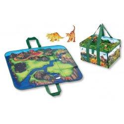 LEGO A1043X2 Box / pojemnik / mata + 2 figurki Dinosaur