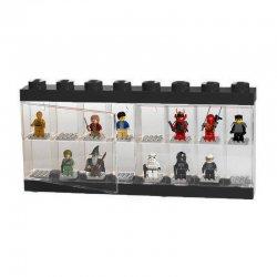 Pojemnik LEGO na minifigurki 16 szt. Czarny
