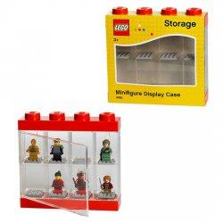 Pojemnik LEGO na minifigurki 8 szt. czerwony