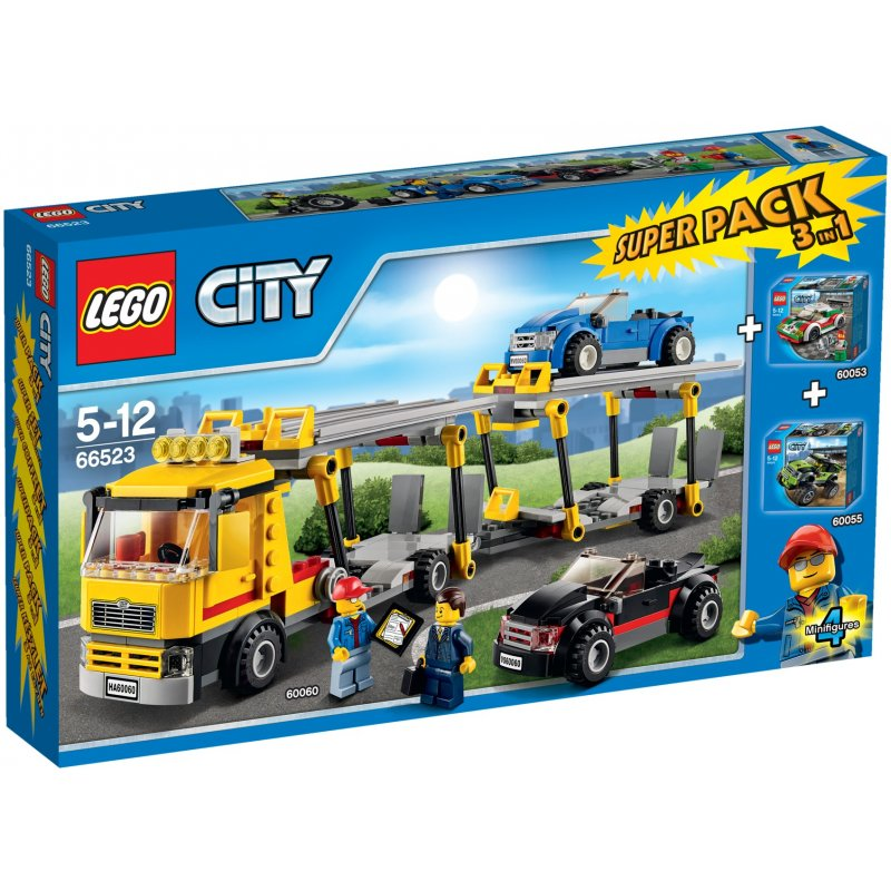 lego 66523 city pojazdy super pack 3 w 1 klocki lego city mojeklocki24. Black Bedroom Furniture Sets. Home Design Ideas