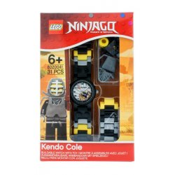 LEGO 8020041 Zegarek na rękę Ninjago Kendo Cole + minifigurka