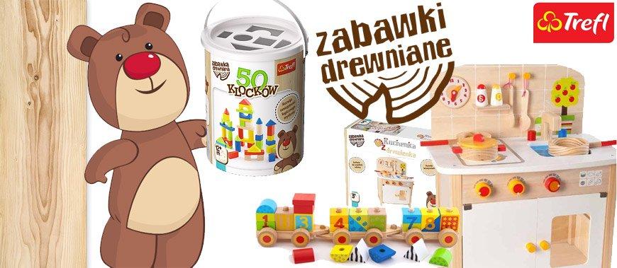Zabawki i klocki drewniane